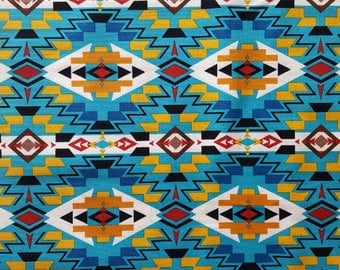 Tribal All Over Cotton Fabric Sold by the yard
