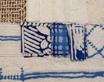 SALE - Vintage Chenille Fabric Jackpot - 34 pieces total