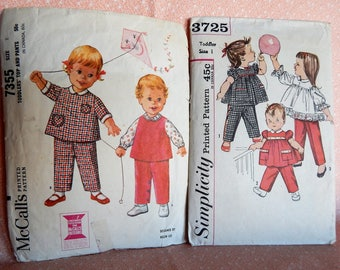 Lot #22 Vintage Sewing Patterns, McCalls 7355 and Simplicity 3725