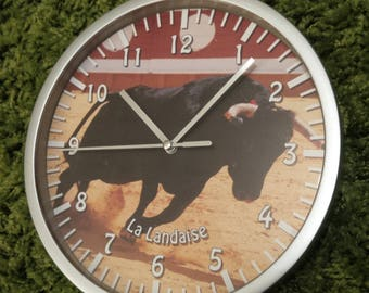 wall clock Landes cow pattern