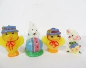 Vintage Set of 4 Easter Candles - Small Easter Candles