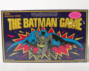 The Batman Board Game 50th Anniversary Edition Vintage 1989 Factory Sealed