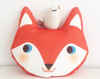MR FOX organic cotton Pillow for kids room