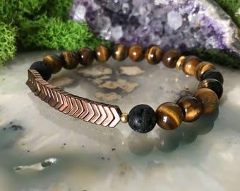 Tigerseye Bracelet | Diffuser Bracelet | Essential Oil Bead | Stretch Bracelet | Lava Stone Bracelet | Essential Oil Bracelet | Aromatherapy
