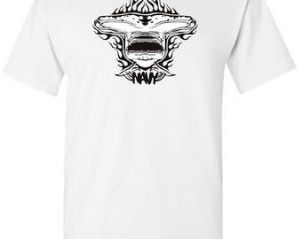 Hammer Head US Navy Men's White T shirt