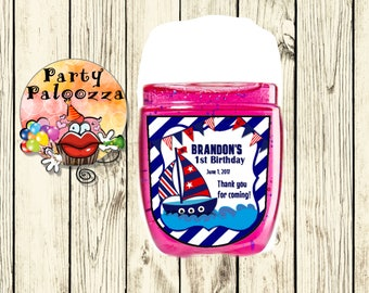 Printable personalized Spa Hand Nautical  Sanitizer label