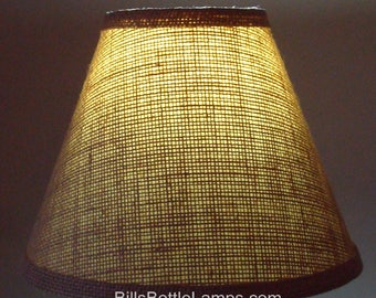 Burlap lamp shade etsy burlap lamp shade rustic cottage table light lamp shade faux oil kraft clip on bulb mozeypictures Choice Image