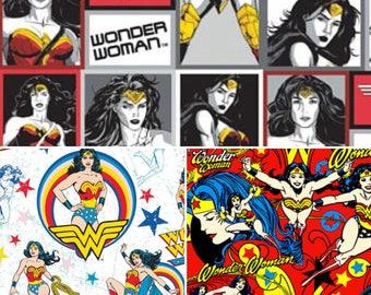 1/2 Yard Wonder Woman /  Fabric By The Yard
