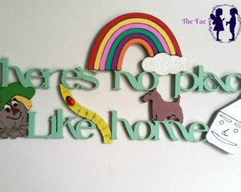 There's No Place Like Home- Quote Wall Sign