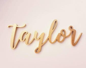 Gold Custom name sign. Personalized baby name. Baby wall decor. INSERT YOUR NAME