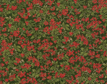 Moda Fabric Magnolia Metallics Evergreen 33245-13M...Sold in continuous cut 1/2 yard increments