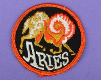 Aries Zodiac Sign Vintage 1970s NOS Patch