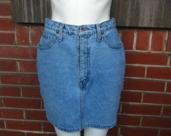 denim high waisted skirt medium
