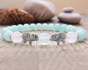 Lucky elephant bracelet String Bracelet Bead Bracelet Animal Jewelry Elephant charm bracelet Fertility Bracelet Sister gifts birthday gift