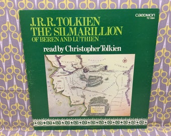 The Silmarillion Of Beren And Luthien by JRR Tolkien Vinyl Record Album LP read by Christopher Tolkien
