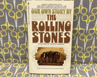 Our Own Story by The Rolling Stones as told to Pete Goodman paperback book vintage rock