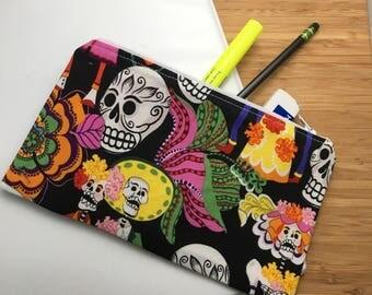 Los Novios Day of the Dead Zip Pouch - Pencil Bag