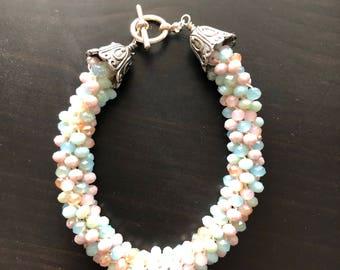 Kumihimo braided bracelet