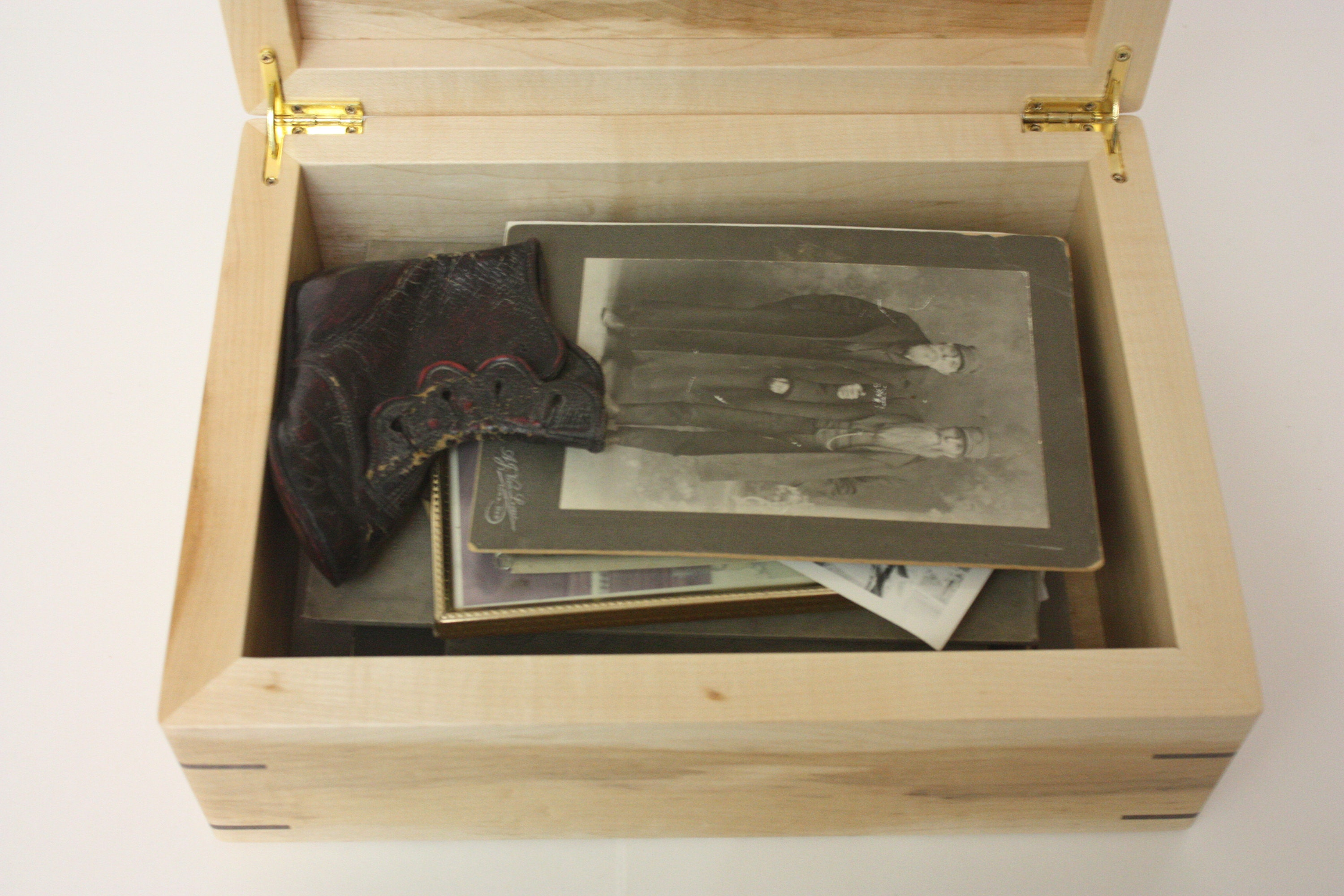 Large Wooden Photo Box For Sale