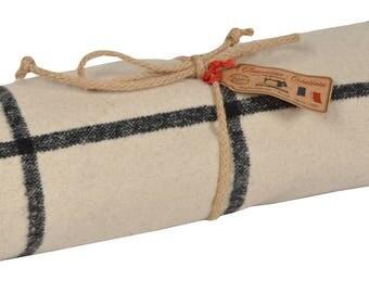 """Plaid fabric """"Off-white Shetland"""" 140x140cm"""