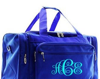 Personalized Royal Duffle, Monogram Duffle, Duffle Bag Persoanlized,Monogram Duffle Bag, School Duffle, Sports bag, large duffle,solid color