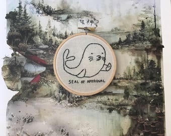 SALE! -  Embroidery - Seal of Approval
