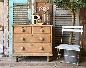 NOW SOLD - Small, Victorian pine chest of drawers