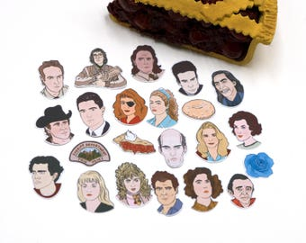 Twin Peaks Stickers & Magnets, vinyl stickers, sticker pack, twin peaks returns, planner stickers, laptop stickers