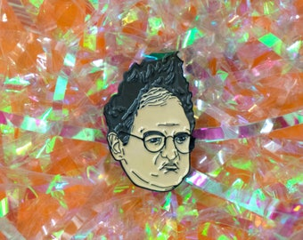 George Costanza Enamel Pin, seinfeld pin, badge, pin game, lapel pin, larry david, angry george, funny gift