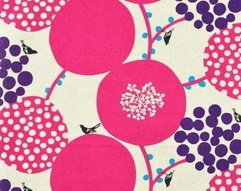 Big Berry Pink - Echino by Kokka Cotton Canvas Fabric Fat Quarter
