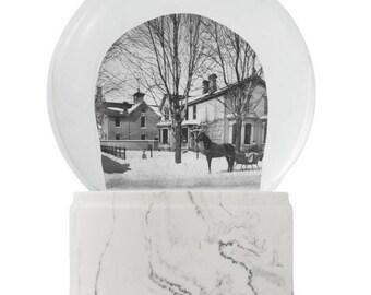 1885 - Home of WF Adams on Woodward Snowy Day