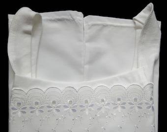 Vintage  White Cotton Undershirt Shirt Size 40 seems to be more M/L