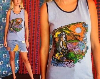 Sale Hawaiian T Shirt HANG TEN T Shirt 70s Hawaii Surfer T Shirt