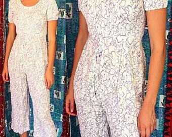 Sale Indian Jumpsuit Boho Jumpsuit Indian Jumpsuit Vintage 80s Jumper