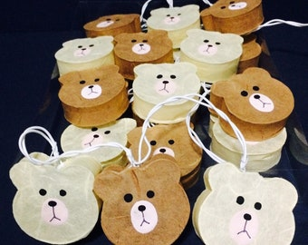 Cutie Teddy Bear mulberry paper Lanterns for wedding party Fairy String  Lights 1 set 20 light