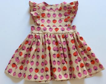 STRAWBERRY FIELDS // pinafore dress // toddler girls dress