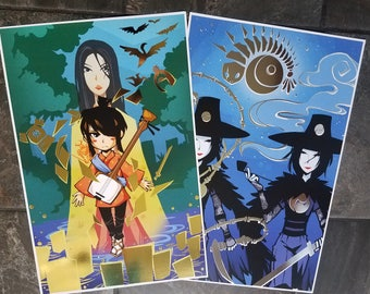 Kubo and the two Strings Shiny prints
