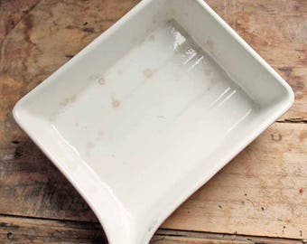 Vintage beginning of 20th century French Ironstone (creamware) Photographic Developing Tray