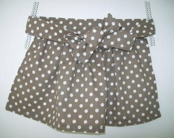 Apron girl - Taupe with white dots