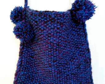 Acrylic knitted shoulder bag