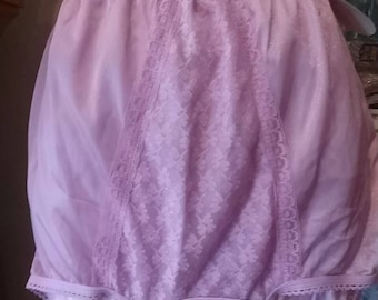Union Made Adrienne Lacey Lavender Panties Size 8 With Tag