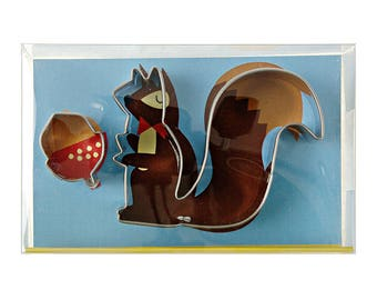Cutter for cookie squirrel - cutter retro squirrel and his nut