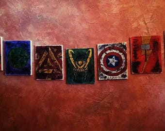 Hand Painted Avengers Art