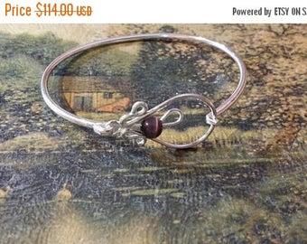 Holiday SALE 85 % OFF Onyx Bangle Cuff Bracelet .925 Sterling  Silver