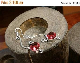 Holiday SALE 85 % OFF Garnet Gemstone Earrings 925 Sterling silver Jewelry TheUnlikelyBandit
