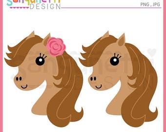 50% OFF Horse clipart, Horse head clipart, JPG, PNG, commercial use, Instant download