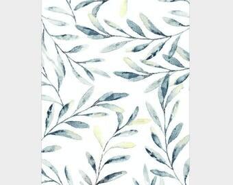 Mini Poster A5 - Crane Leaves - Unique Design - SFA