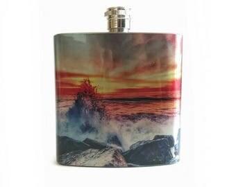 Beach Gift For Boyfriend / Destination Wedding Party Favor / Groomsmen Flask Beach Wedding
