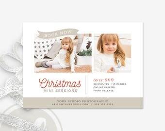 Christmas Mini Session Template - Christmas Markeing Board, Christmas Marketing, Holiday Mini Session Template, Holiday Marketing Board