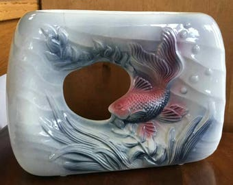 Vintage Royal Copley Open Goldfish Vase - Made in USA - Spaulding China Co. - 1941 to 1957